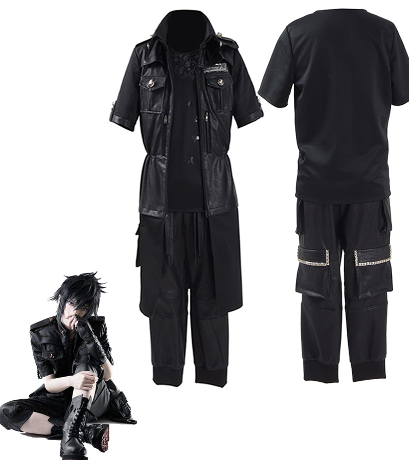 где купить Final Fantasy XV FF15 Noctis Lucis Caelum Noct Cosplay Costume Outfit Male Female Custome дешево