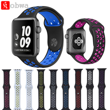 Sport Silicon Rubber Band For Nike Watch For iWatch Strap Belt Bracelet Watchbands For Apple Watch Wristbands 42/38mm