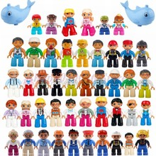 Figures LegoING Duplo Set City Family Set Police Building Block Baby Toy Compatible Duplo Legoings Figura Toy For Children Gift(China)