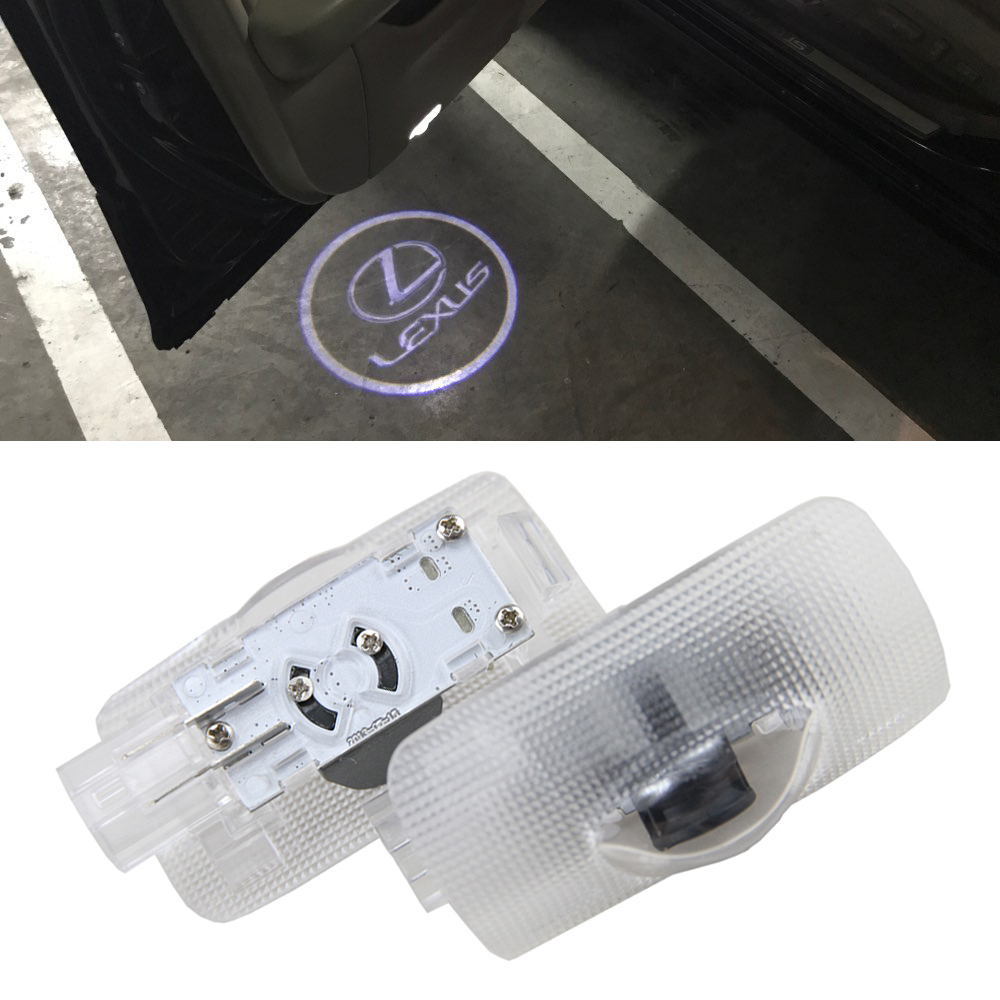 2 Pcs LED Projector Door Shadow Light Laser Emblem Logo Light for Lexus LS /ES 300/ IS/ IS 250/RS GS350/GX/RX 330 Welcome Light