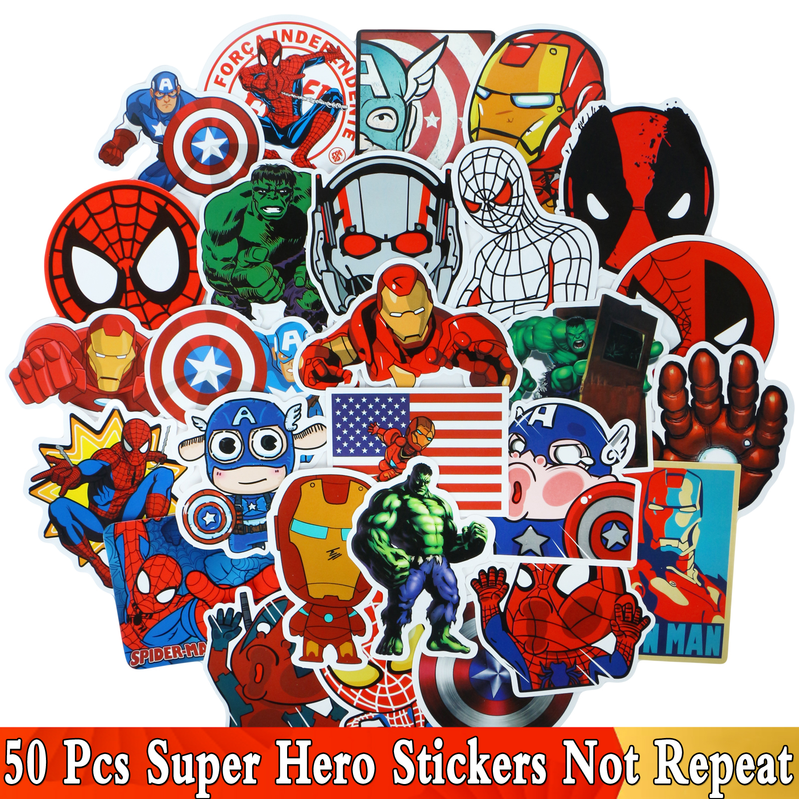 Cool JDM Graffiti Anime Movie Stickers For Super Hero Cartoon For Avengers For Decal Motorbike Laptop Skateboard Luggage Sticker