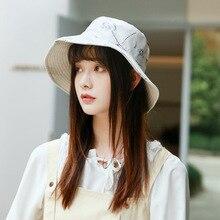 Printed Girl Bucket Hat Women Fisherman Hats Outer Summer Street Hip Hop Men Casual Cotton Panama City Cap Sun Beach