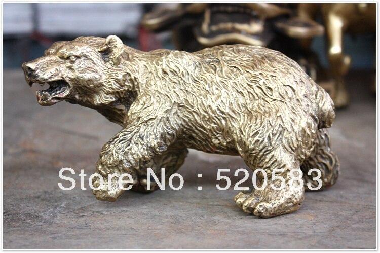Bronze Sculpture Art Ferocious Bear Brown Bear Statue