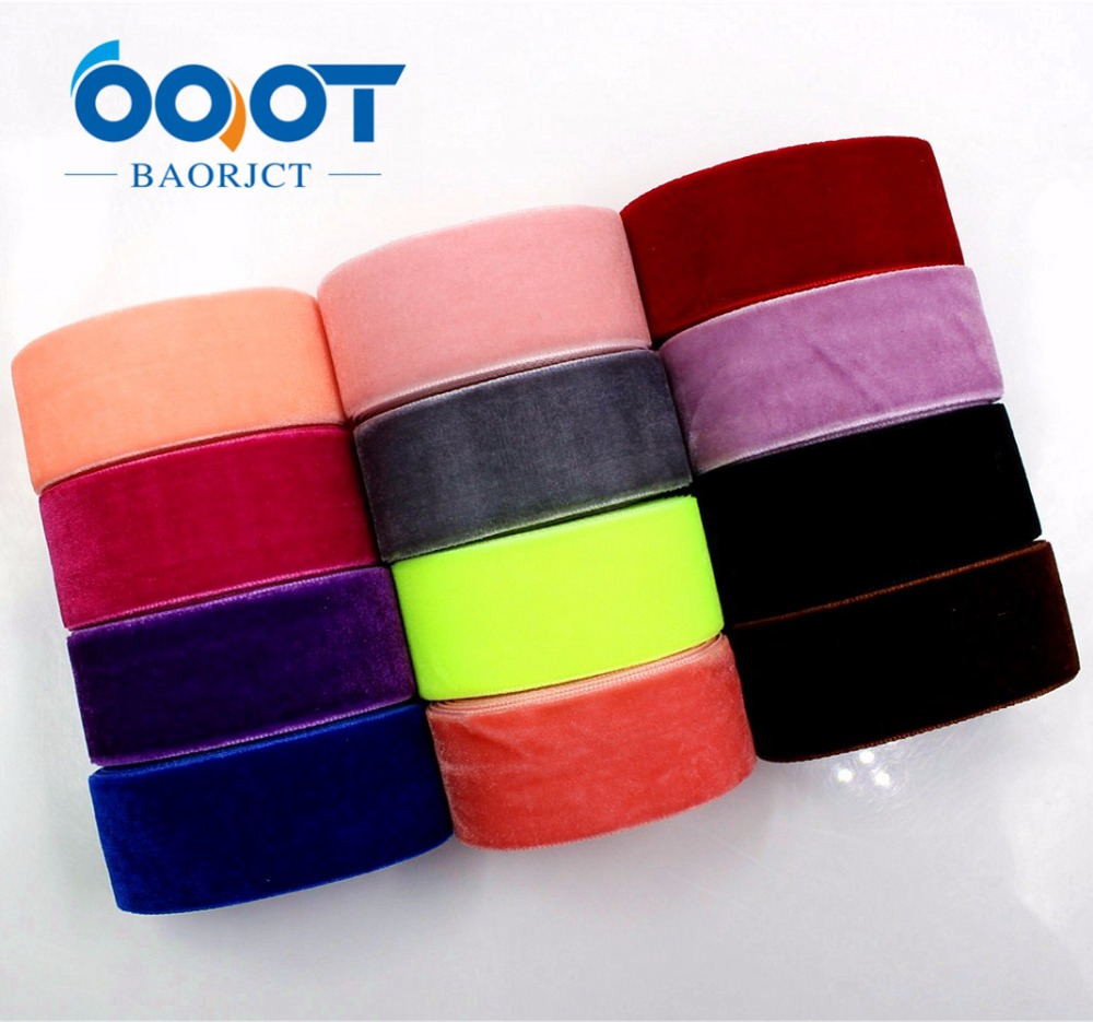 1712305,25MM 10yards velvet ribbon,DIY handmade Hair accessories Material wedding gift wrap decoration,