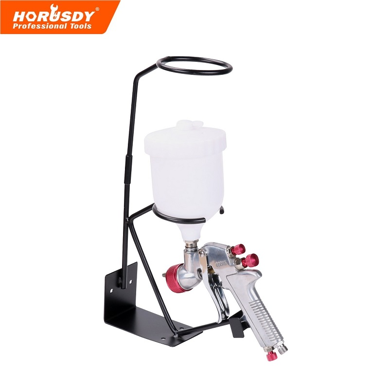 Spray Gun Gravity Feed HVLP PAINT SPRAY GUN 1.8mm Nozzle 600ml Pot + Stand Holder