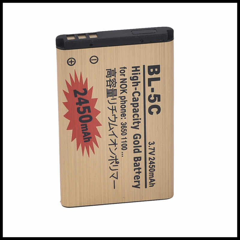 High Capacity Golden battery BL5C BL-5C Mobile phone Battery for Nokia 1000/ 1010/ 1100/ 1108/ 1110/ 1111/ 1112/ 1116 BATTERY 5c