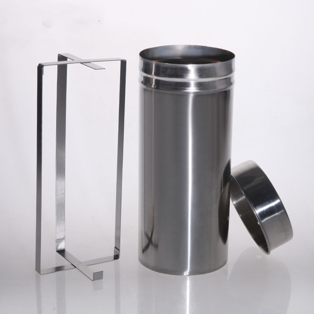 1pc Laboratory Stainless Steel Disinfection Sterilize Barrel For 90mm Petri Dish Diameter 105mm  Height 250mm