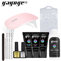 Poly Builder Gel Set Nail Extension Varnish Polish Top Base Coat Slip Solution Acrylic Kits Resin