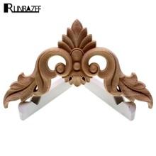 Runbazef escultura em madeira flor de móveis europeus porta pequena casa decoração artesanato estatuetas miniaturas acessórios