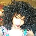 Бразильский короткие вьющиеся волосы стили расширения 100 процентов человеческих волос weave связки предложения afro Kinky Вьющихся Волос tissage дешевый