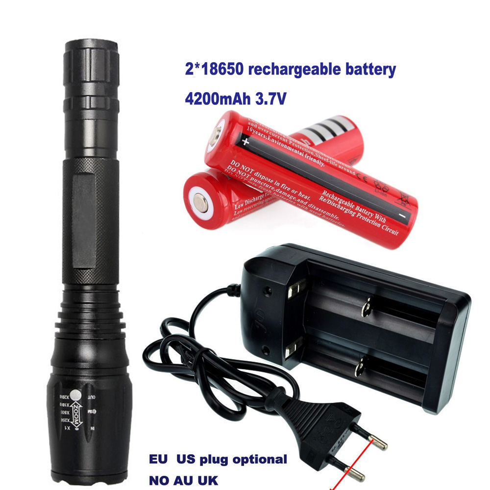 LED Flashlight E17 2000 Lumens 10W CREE XM-L T6 Lamp Zoomable LED Light Tactical Torch High Power Light 5-mode Strobe SOS 18650 cree xm l t6 bicycle light 6000lumens bike light 7modes torch zoomable led flashlight 18650 battery charger bicycle clip