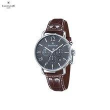 Наручные часы Earnshaw ES-8001-04 мужские с кварцевым хронографом на кожаном ремешке