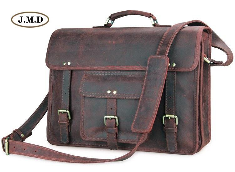J.M.D Genuine Leather Men's Classic Special Design Brown Business Briefcases Laptop Handbag Shoulder Bag Messenger Bag 7234R пылесос с пылесборником miele sbad0 classic c1 special