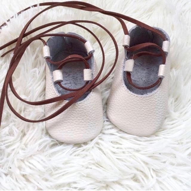 Sólido de Cuero genuino zapato de bebé
