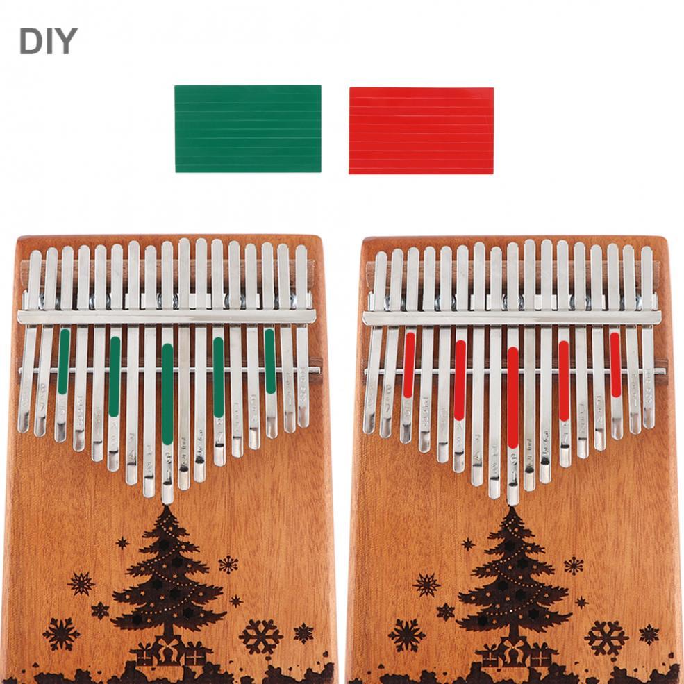 17 Key Kalimba Christmas Tree Sound Hole Single Board Mahogany Thumb Piano Mbira Natural Mini Keyboard Instrument