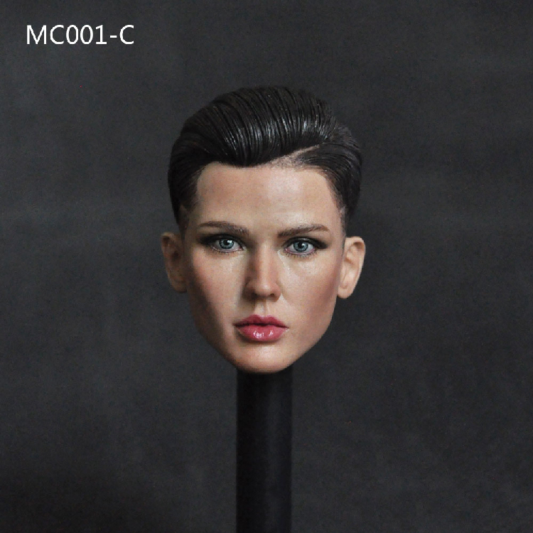 MC001 1 6 Scale spy agent Head play Ruby Rose Bodyguard Head Sculpt Carving Cool short Hair 12 quot suntan body Figure Collection in Action amp Toy Figures from Toys amp Hobbies