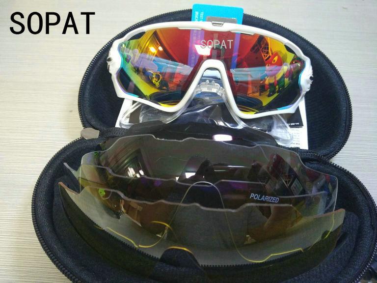 HTB1tFAIPVXXXXX.apXXq6xXFXXXr - 2018 4 Lens Mountain Velo Goggles Polarized Jaw Breaker Sunglasses Men Women MTB sopat Eyewear JBR Sun Glasses with Myopia Frame