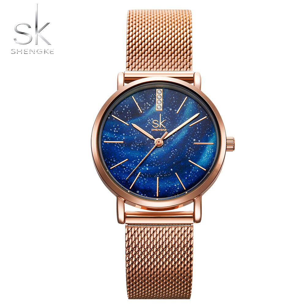Sk 2019 Top Brand Women Watch Quartz Stainless Luxury Gold Wristwatch Bracelet Elegant Dress Gift for