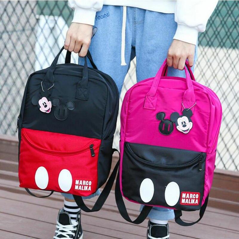 2018 Новая мода с Микки Маусом рюкзак девушки прекрасная сумка Для женщин рюкзаки сладкий бабочкой женские школьные сумки Mochila Feminina