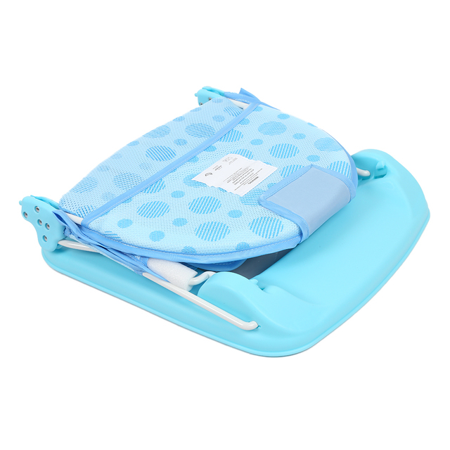 Foldable Baby Bath Seat 15KG Load Bearing Bathing Bathtub Seat Baby Bath Net Safety Security Seat Support Infant Shower Cushion Activity & Gear