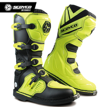 new SCOYCO MBM001 Off-road racing boots motorcycle boots Motocross Motorbike riding long knee high Shoes heavy protective gear