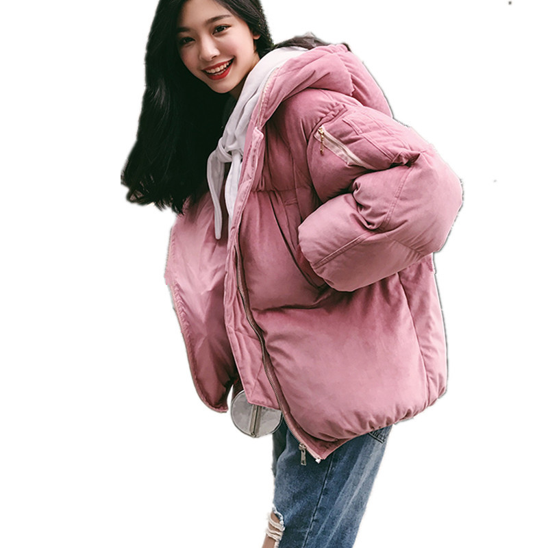 Thick Velvet Hooded Short Padded Winter Coat Women Casual Cotton Parka Fashion Wadded Hooded Jacket Women Manteau TT3472 winter jacket women maxi coats with gloves casual cotton coat women hooded parkas wadded padded jacket manteau femme parka c3340