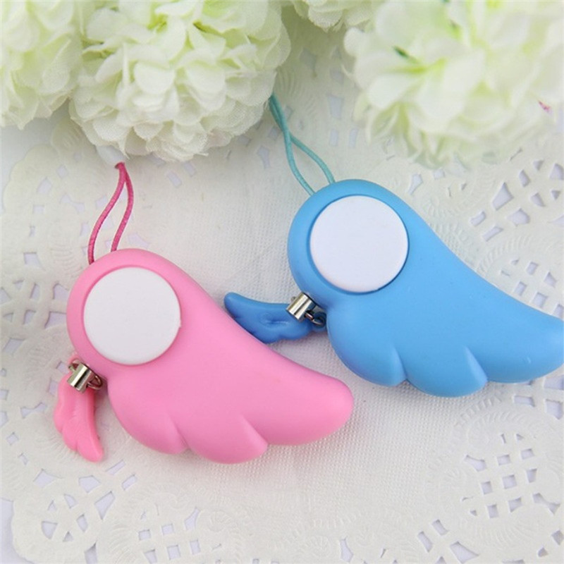 SKeyring Self Prevent Personal Panic Attack Safety Security Loud Anti Wolf Alarm Car home Easy to install Alarm test button b#