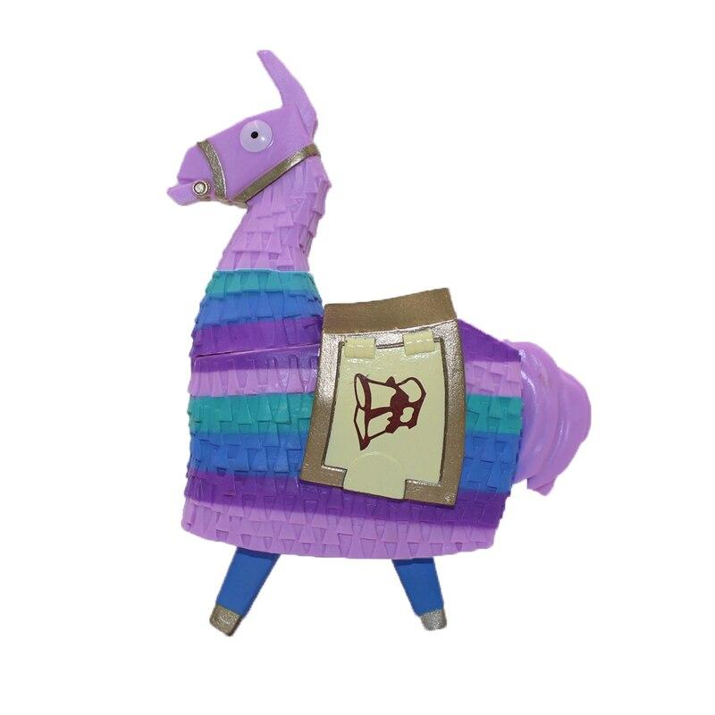 Fortinet 12 CM figura de acción Troll alijo Llama Alpaca Arco Iris caballo fortaleza noche dos semanas juego juguetes botín Piñata