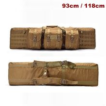 Tactical 93 / 118cm Heavy Bag Rifle Airsoft Pistol Hand Carry Outdoor Shooting Hunting With Molle Pouch Case