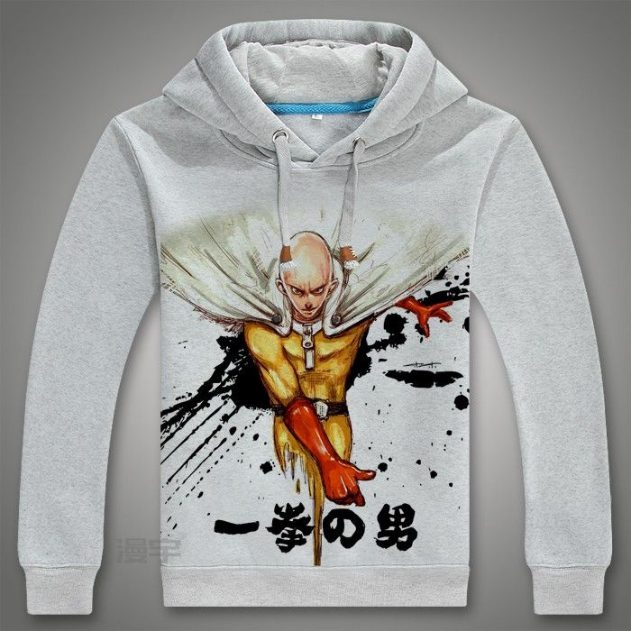 Ein Schlag Mann Hoodies Anime One Oppai Hoodies Ein Punch-mann Re-machen Fleece Jacke Harajuku Sweatshirt Uns Größe Xl Schmuck & Zubehör Halsketten & Anhänger