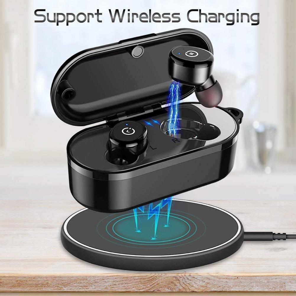 TWS Mini casque Binaural étanche Bluetooth écouteur sans fil Bluetooth avec chargeur sans fil livraison directe 8.15