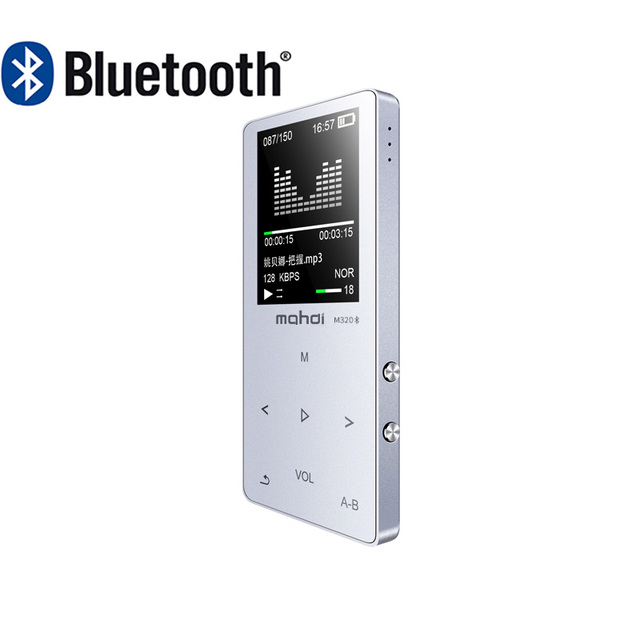 Metal Bluetooth 4.1 touch screen MP3 player Bulit-in Speaker with FM radio/recording E-book Portable Slim Lossless Sound walkman