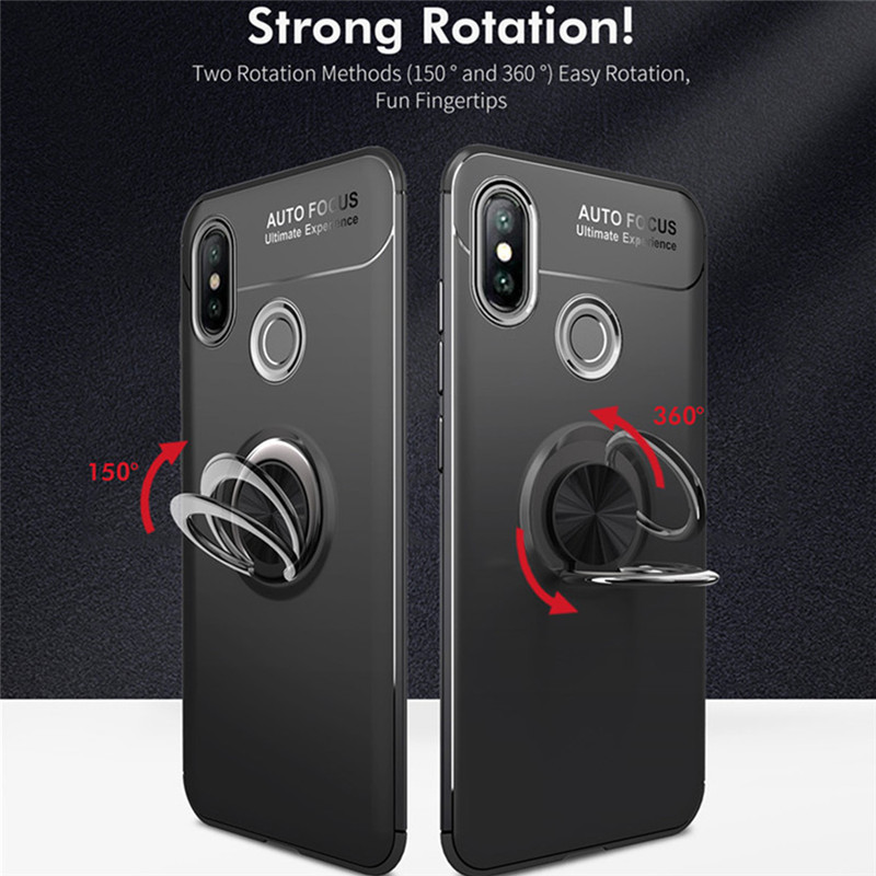 Magnetic Ring Holder Case For Xiaomi Mi 8 6 6X 5X A1 A2 Mix 2 2S Max2 Stand Phone Cases For Mi Redmi S2 4A 4X Note 3 5 5A Pro image