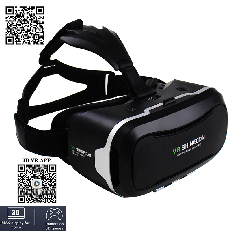 VR Shinecon II 2 Helmet Virtual Reality 3D Video Glasses VR Headset for iPhone 6 6s Plus 4.7 – 6.0 Mobile Phone