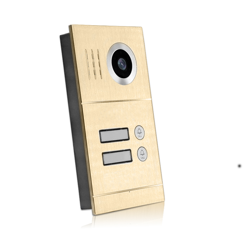 Free Shipping Two Apartment 1.0MP 720P AHD IP 7 Touch Screen Video Intercom Door Phone Kit Record Monitor for Android IOS Phone