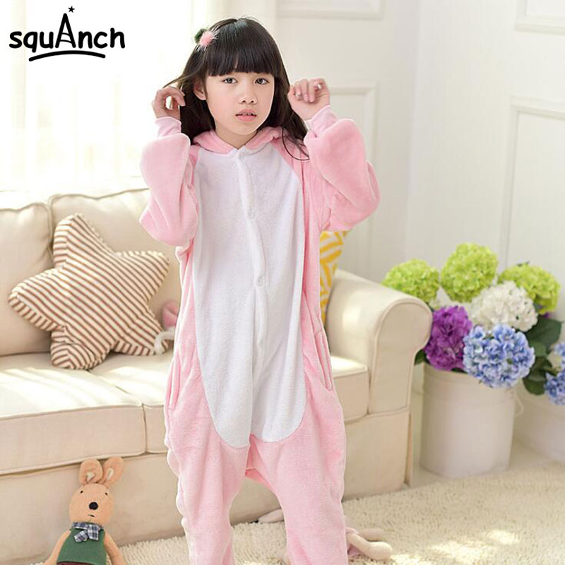Girls Dinosaur Pajama Onesie Pink Animal Cosplay Costume Funny Warm Soft Sleep Jumpsuit Kid Cartoon Holiday Birthday Party Suit