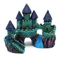 Fish Tank Resin Purple Castle Aquarium Accessories Ornament Decoration
