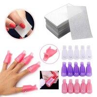 10pcs/set Nail Art Soak Off Clip Cap,900pcs Nail Gel Clear Cotton Wipes Towel,Manicure Cleaning Nails Tools Kit