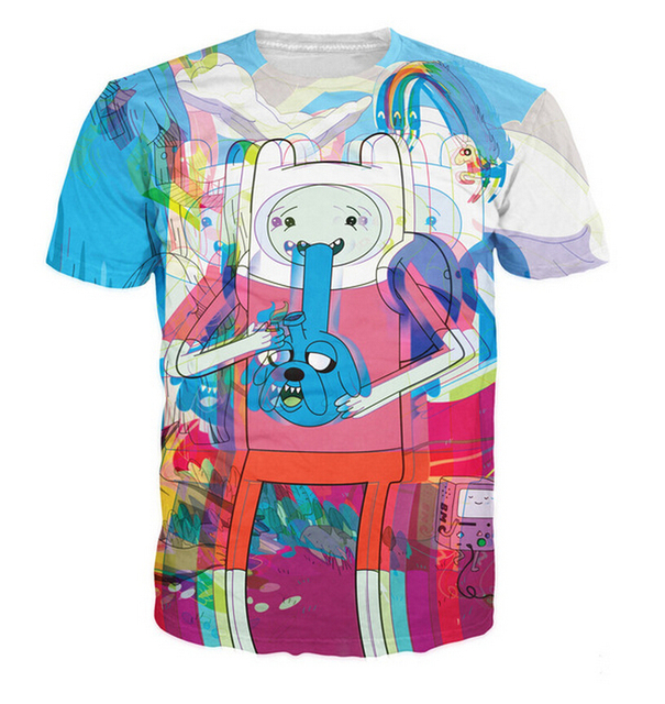Trip Time T-Shirt Jake/Finn the Adventure Time psychedelic tees Unisex Women Men Summer Style t shirt fashion tops plus size