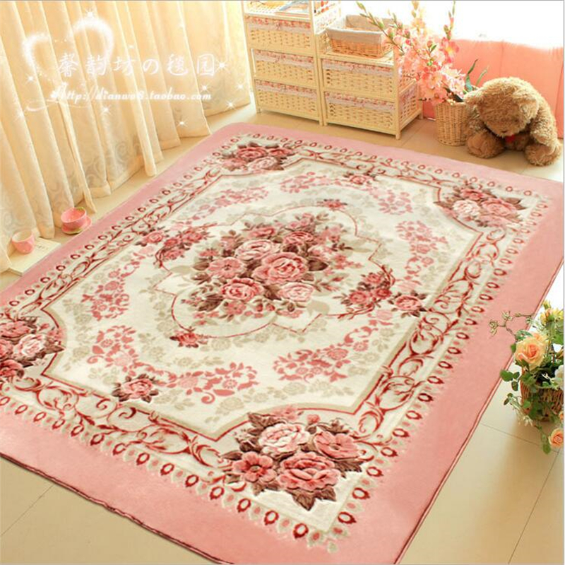 200cm*150cm Rose Flower Carpet Large Washable Living Room Rugs Home  Decorative Parlor Area Rug
