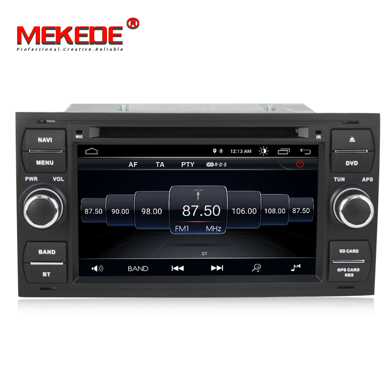 Commercio all'ingrosso! Quad core android 8.0 gps per auto dvd radio player per Ford C-Max Connect Fiesta Fusion Galaxy Kuga Mondeo s-Max di Messa A Fuoco