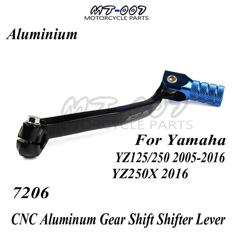 Motorcycle Supermoto Dirt Bike CNC Aluminum Gear Shift Shifter Lever For Yamaha YZ125/250 05 16 2006 2007 2008 2009 YZ250X 2016