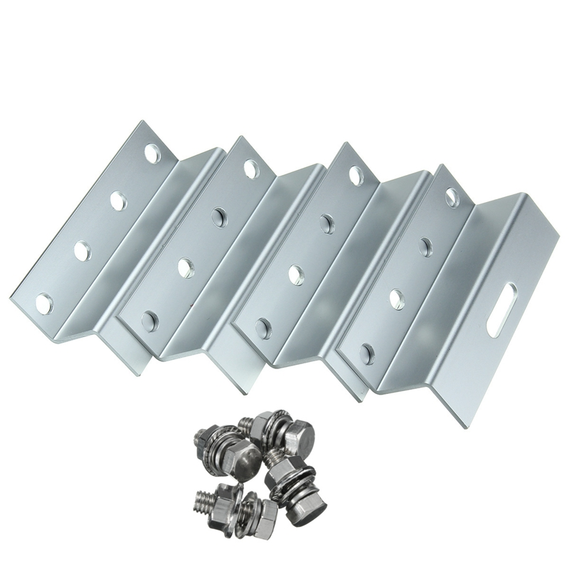 Hot Sale 1 Set 4pcs Z Style Aluminum Solar Panel Roof Mounting Bracket Support Kits Screws For Mount Solar Panel To RV Boat Roof