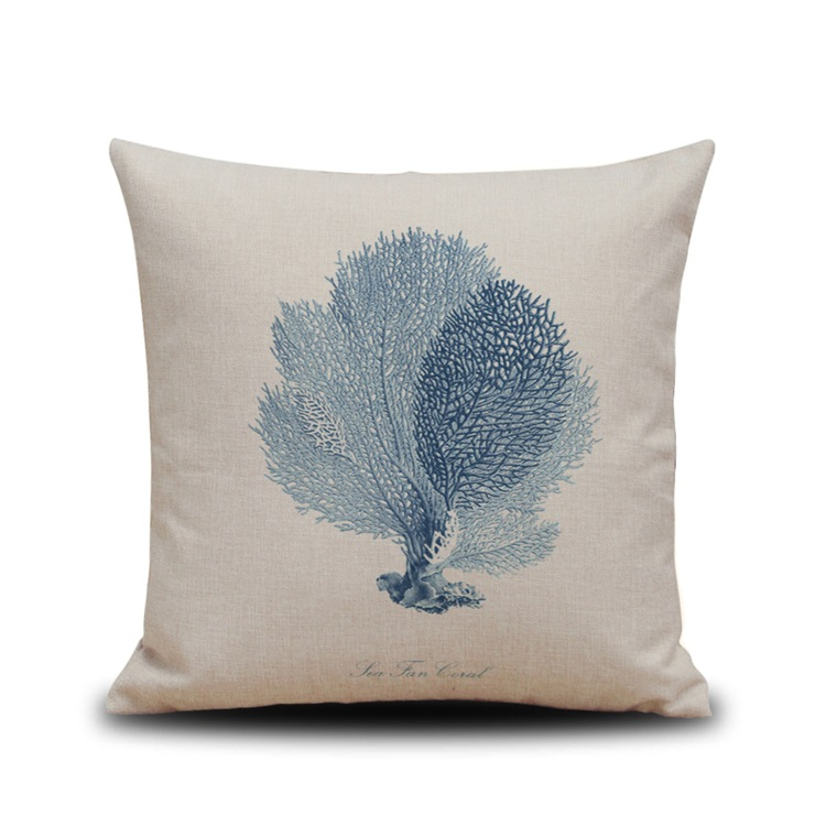 Fashion Navy Blue Print Dining Chair Cushion Cotton Linen 45x45cm Car Seat Pillow Home Decorative Seat Cushions Kitchen Chairs in Cushion from Home Garden