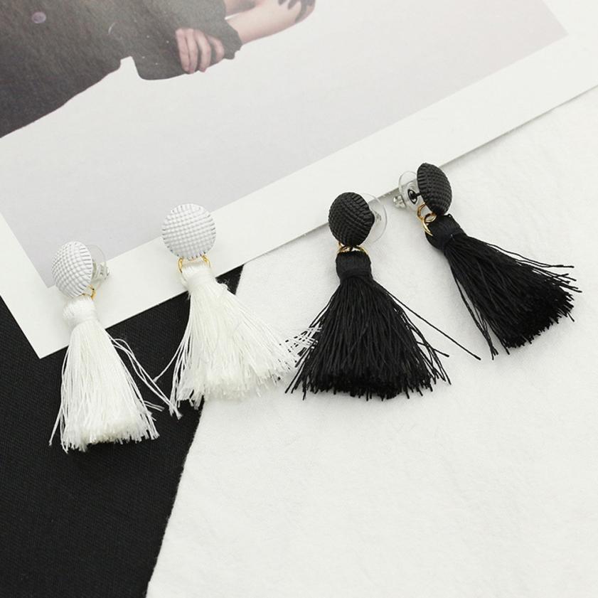 Bling-world Bohemian Women Fashion Woolen Tassels Earring Gorgeous Jewelery may1