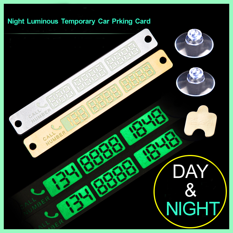 Car Temporary Parking Card Car Styling Telephone Number Card Sticker Phone Number Card Sticker Car Park Automobile Accessories