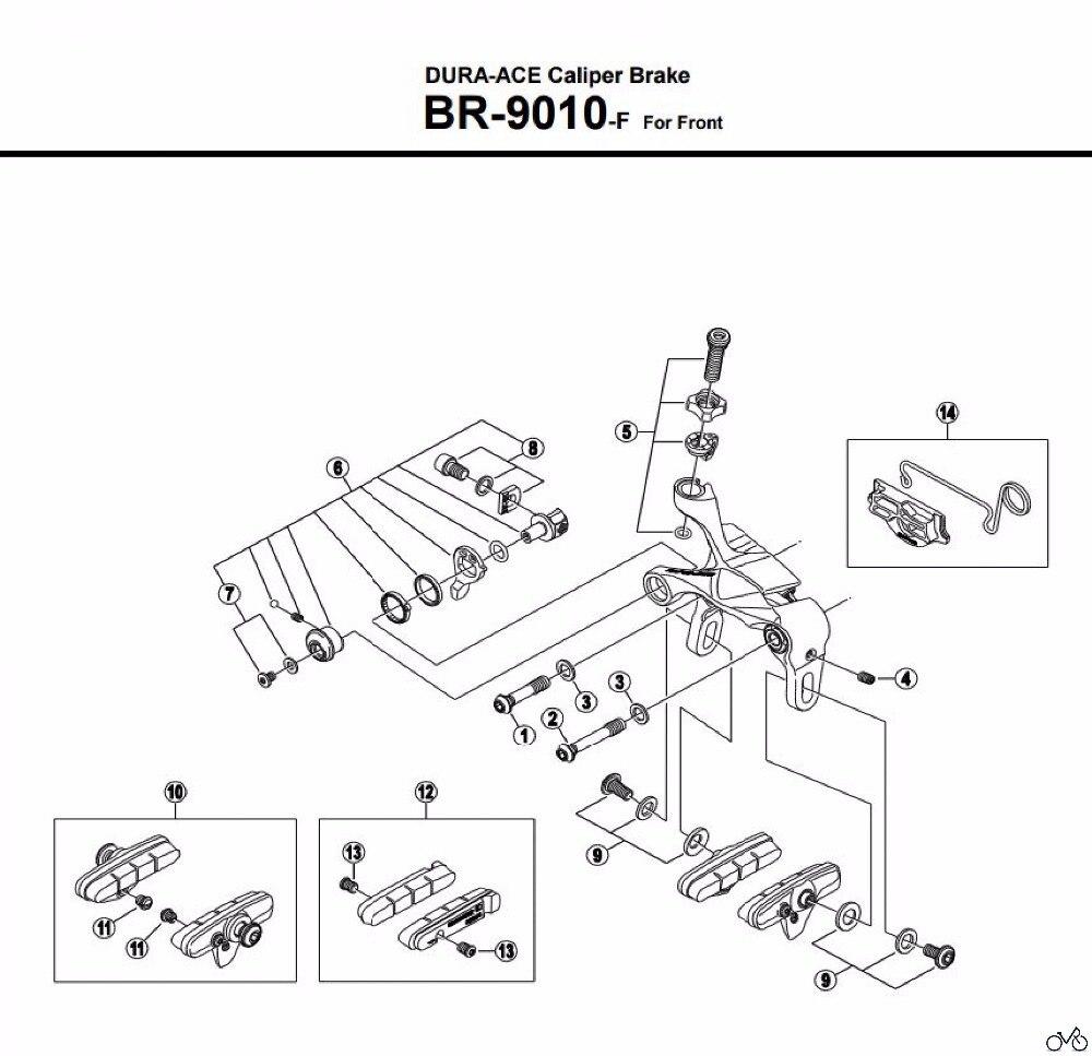 shimano BR9000/9010 DURA ACE Caliper Brake parts QUICK