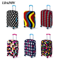 LDAJMW Travel Luggage Suitcase Protective Cover Elastic Suitcase Dust Covers Box Sets Apply To 18 To 28 Inch Cases Organizers