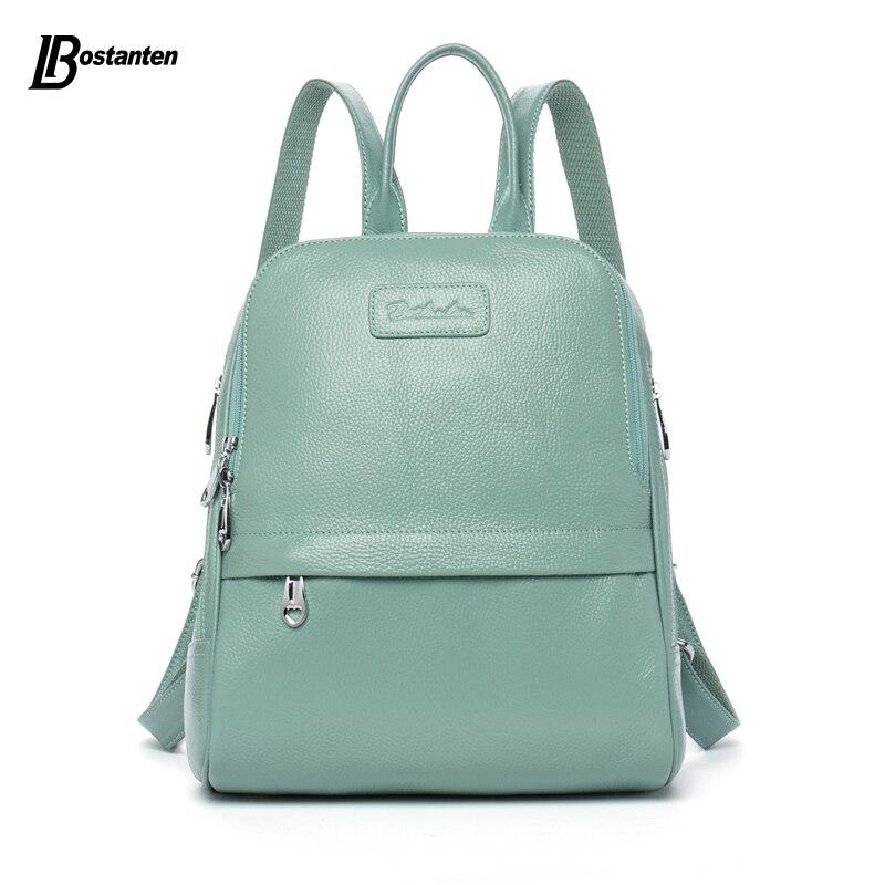 Bostanten Mode Véritable sac à dos en cuir sacs pour femmes Preppy Style Sac À Dos Filles sacs d'écolier Zipper Kanken sac à dos en cuir