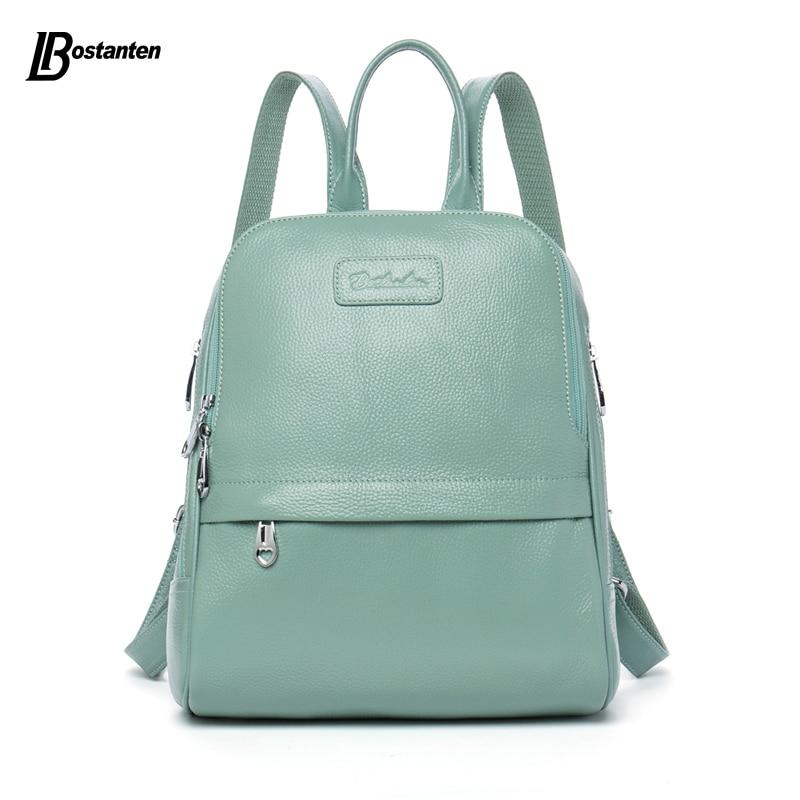 Bostanten mode sac à dos en cuir véritable femmes sacs Style Preppy sac à dos filles sacs d'école Zipper Kanken sac à dos en cuir